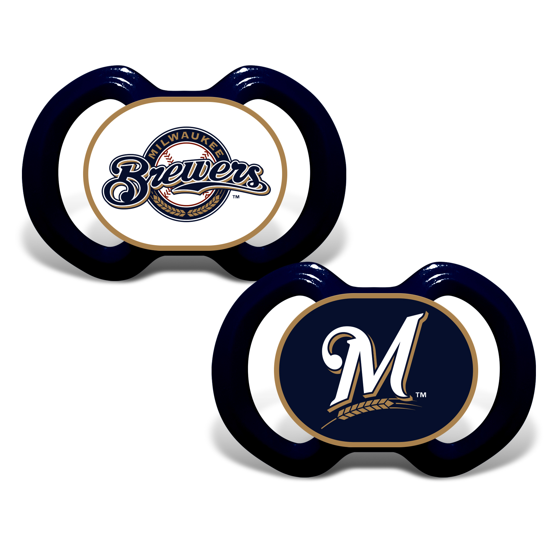 MLB Milwaukee Brewers 2-Pack Pacifiers