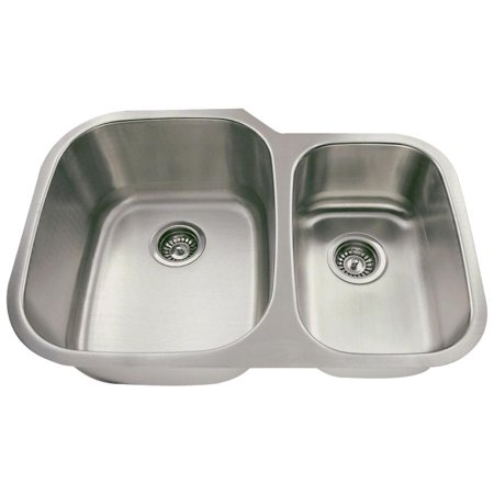MR Direct 506L 18 Gauge Undermount Stainless Steel 29-3/8 in. Double Bowl Kitchen Sink