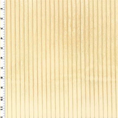 Beige Minky Wide Wale Corduroy Upholstery Fabric Sold By The Yard