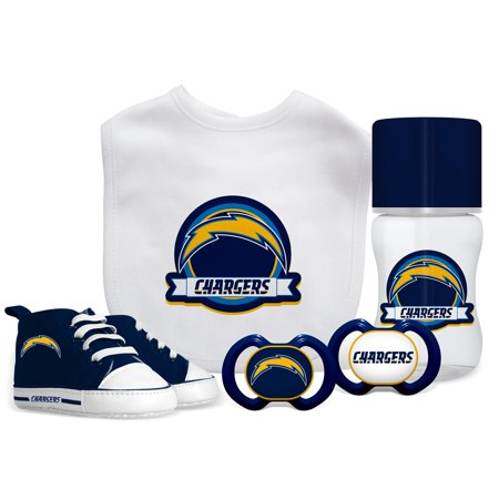 Baby Fanatic NFL 5 Piece Infant Gift Set Los Angeles Chargers
