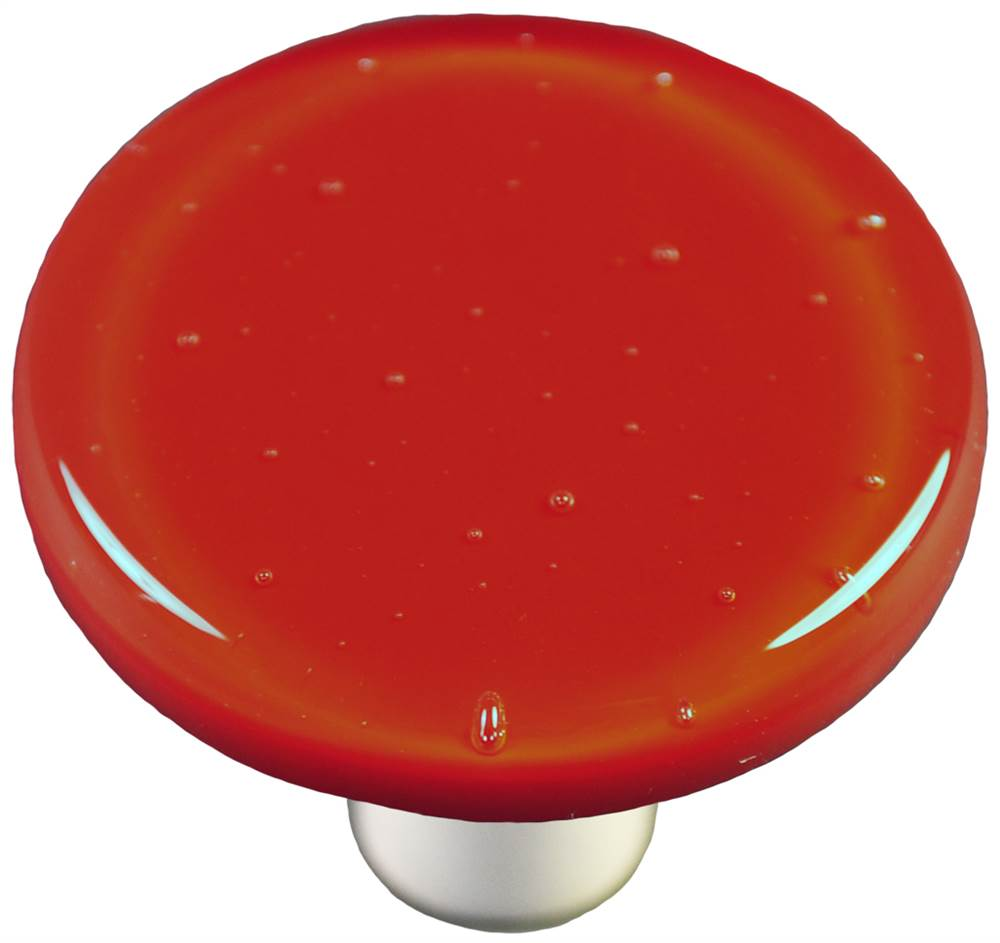 Round Knob in Brick Red (Aluminum)