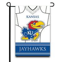 "Kansas Jayhawks 12.5"" x 18"" Double-Sided Jersey Foil Garden Flag - No Size"