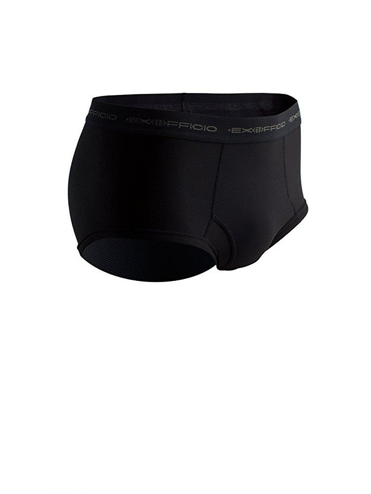 exofficio men's give-n-go brief, black, black by