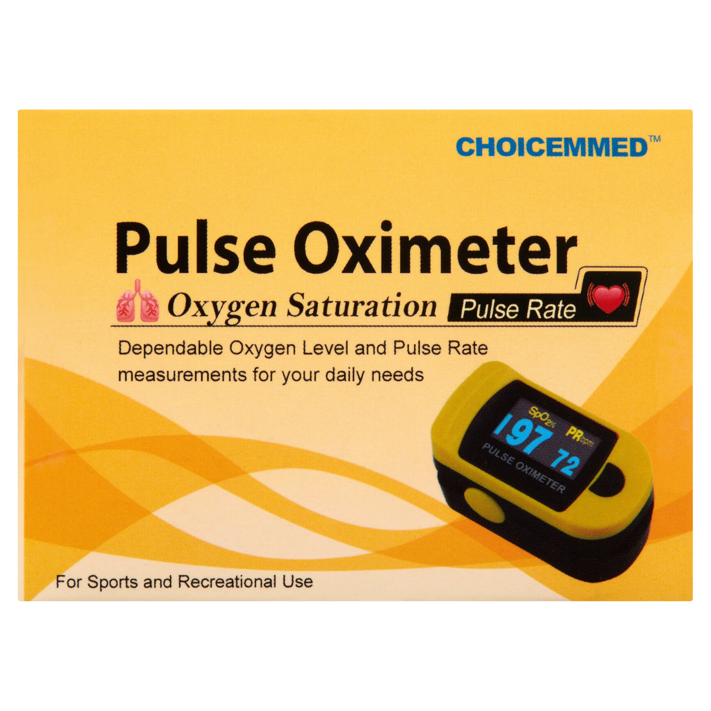 ChoiceMMed OxyWatch C20SM Fingertip Pulse Oximeter