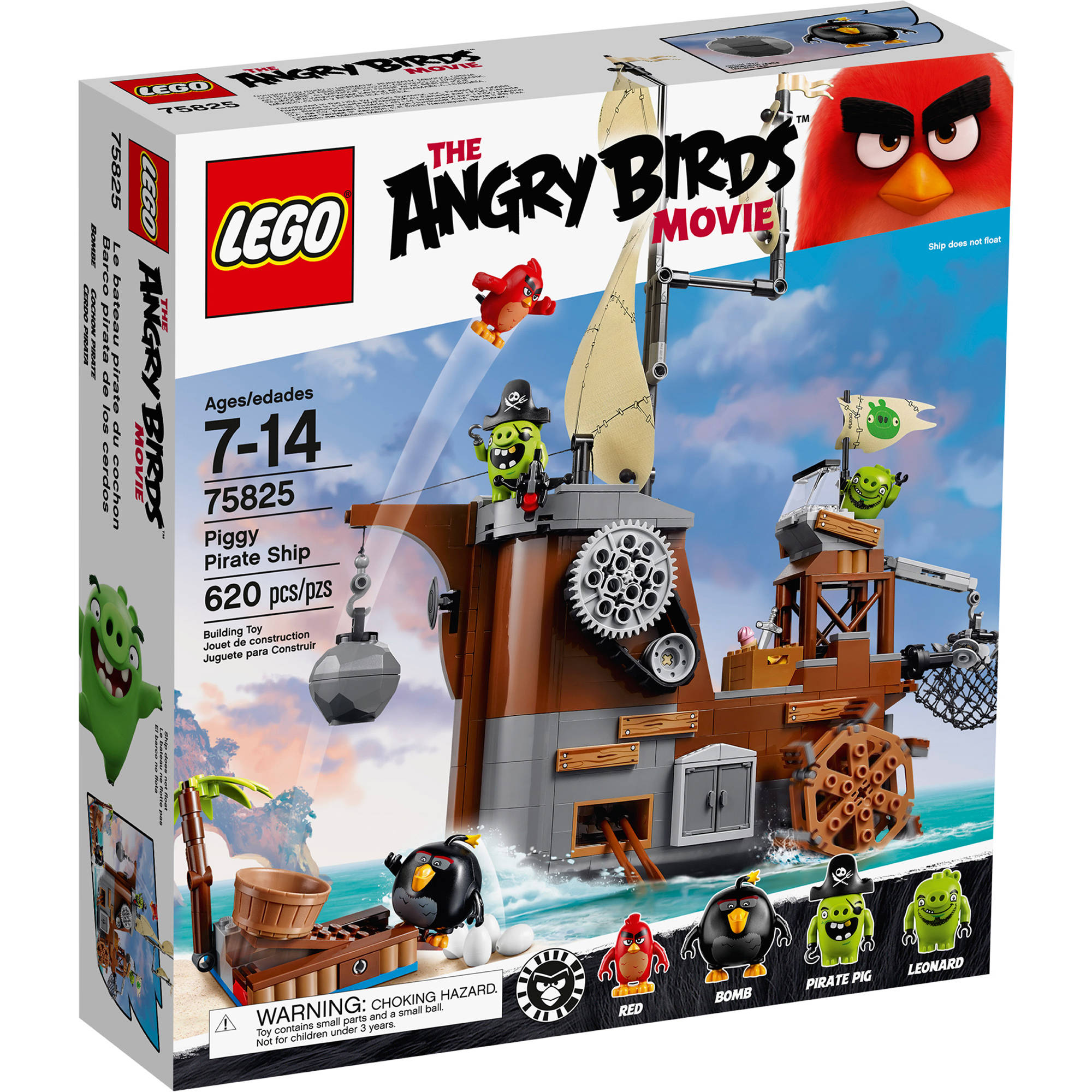 Lego Angry Birds Piggy Pirate Ship 75825 by LEGO Systems, Inc.