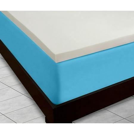 dreamdna 4lb twin size 2 american made visco elastic memory foam mattress topper. Black Bedroom Furniture Sets. Home Design Ideas