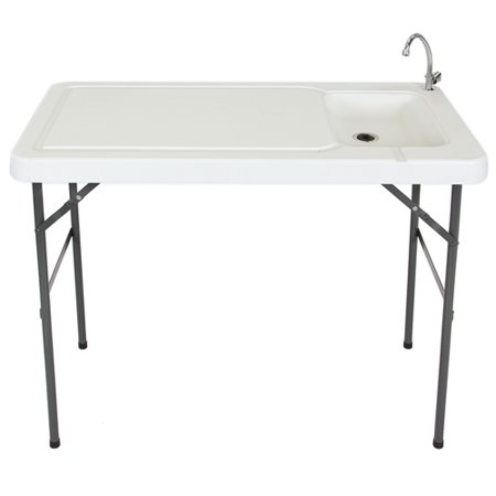 Best Choice Products Portable Cutting Cleaning Table For Fish Game Hunting W Sink Faucet