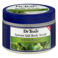 Dr Teal's Exfoliate & Renew with Eucalyptus & Spearmint Epsom Salt Body Scrub, 16 oz