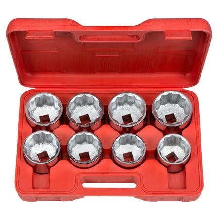 TEKTON 3/4-Inch Drive Jumbo Socket Set, Inch, 2-1/16-Inch - 2-1/2-Inch, 8-Sockets   1110
