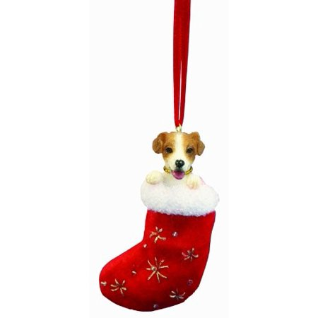 E&S Pets Jack Russell Stocking Ornament (Set of (Stocking Ornament Set)