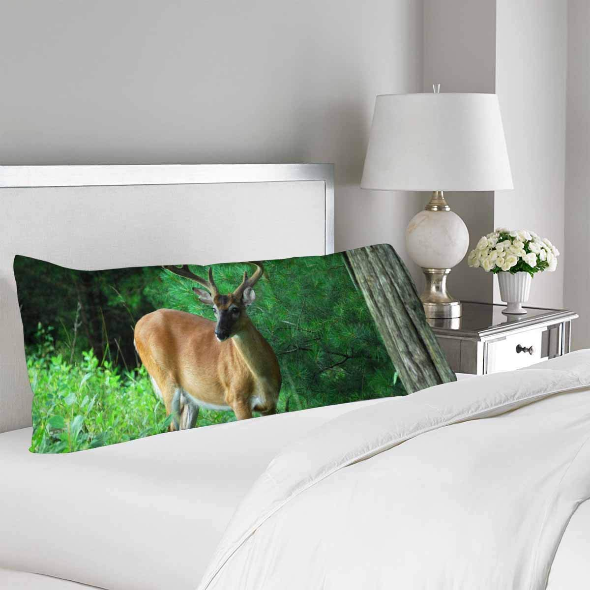 GCKG Buck Deer Summer Antlers Smoky Mountains National Park Body Pillow Covers Case Pillowcase 20x60 inches Couch - image 1 de 2