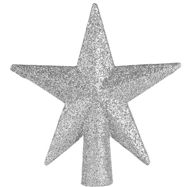 Ornativity Glitter Star Tree Topper Christmas Small Silver Decorative Holiday Bethlehem Star Ornament Walmart Com Walmart Com