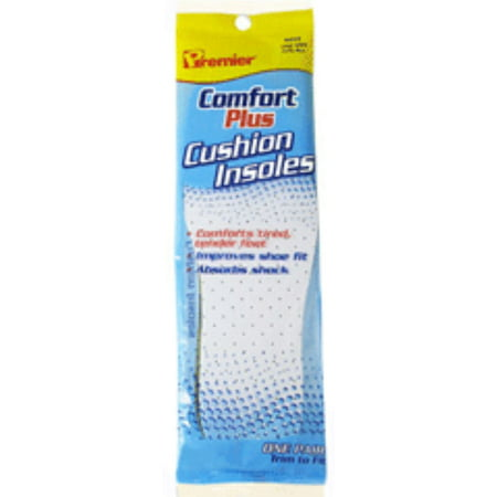 Premier Comfort Plus Cushion Insoles for Women [size: 5-6 1/2] 1 pair (Pack of 2)