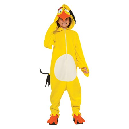 Kids Chuck Angry Birds Cozy Jumpsuit Costume - Chuck E Cheese Costume
