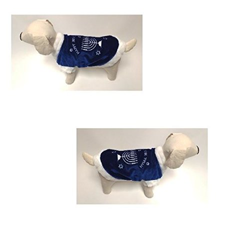 Dog Costume - HAPPY HANUKKAH COAT COSTUMES Channukah Dogs Clothes(Size 6)
