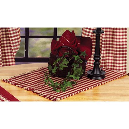 Heritage House Check Barn Red Table Runner