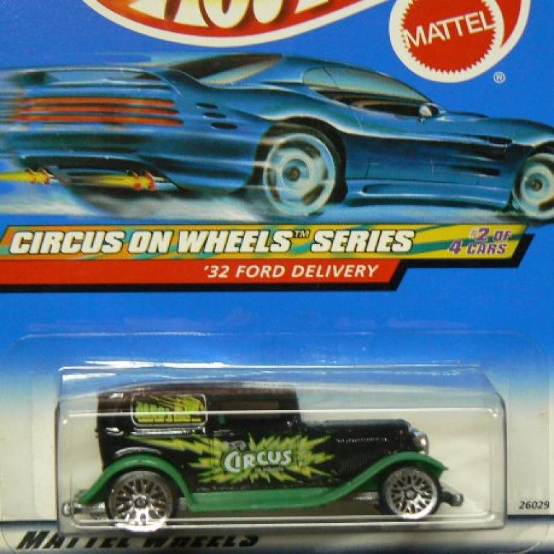 Mattel Hot Wheels Circus On Wheels Series: '32 Ford Delivery: Black Green 1:64 Scale Die... by