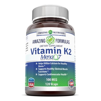 Amazing Formulas Vitamin K2 Menaq7 100 Mg 120 (Best Vitamin K2 Mk 7 Supplement)