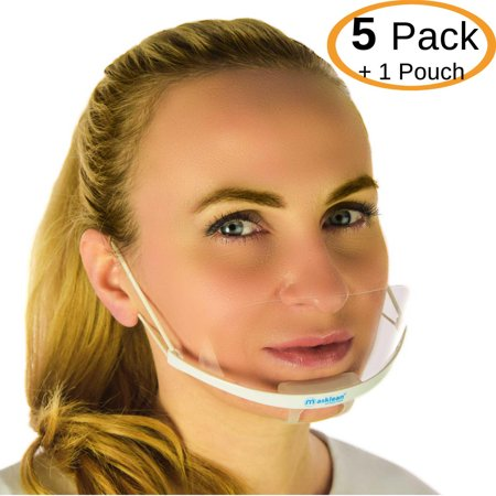 Masklean Clear Transparent Sanitary Mask for Permanent Makeup PMU microblading Tattoo Catering with