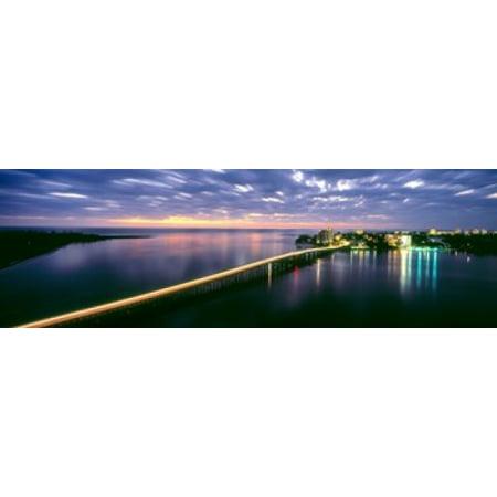 Estero Boulevard at night Fort Myers Beach Estero Island Lee County Florida USA Poster Print
