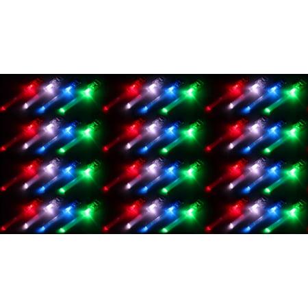 Set of 12 VT LED Light Up Party Favor Fiber Optic Toy Finger Light 4 Packs](Fiber Optics Led)