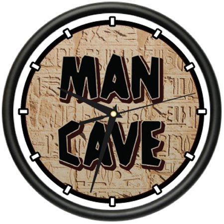 Man Cave I Wall Clock Sports Man Room Garage Sign Gift