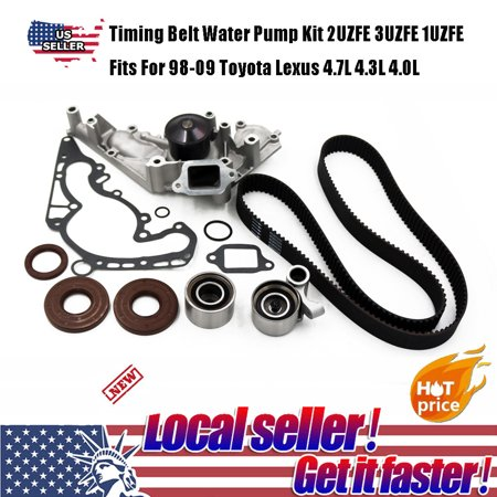 Timing Belt Water Pump Kit 2UZFE 3UZFE 1UZFE Fits For 98-09 Toyota
