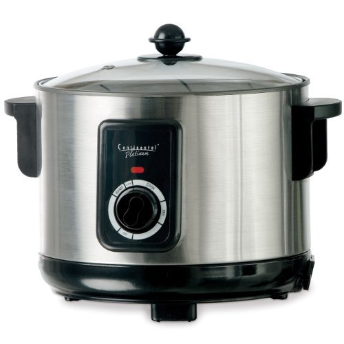 Continental Electric CP43279 Cooker & Steamer - 1000 W - 1.32 gal - Stainless Steel