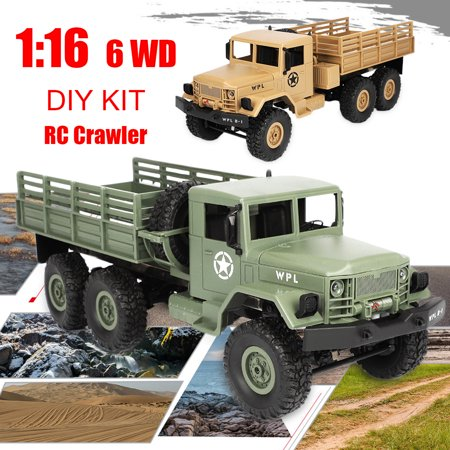 WPL B-16 1:16 2.4G 6WD Off-Road RC Military Truck Rock Crawler DIY Kit WPL Remote Control Toy Best Birthday Christmas Gifts For