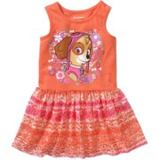 Paw Patrol Baby Toddler Girl Sleeveless Dress with Lace Overlay