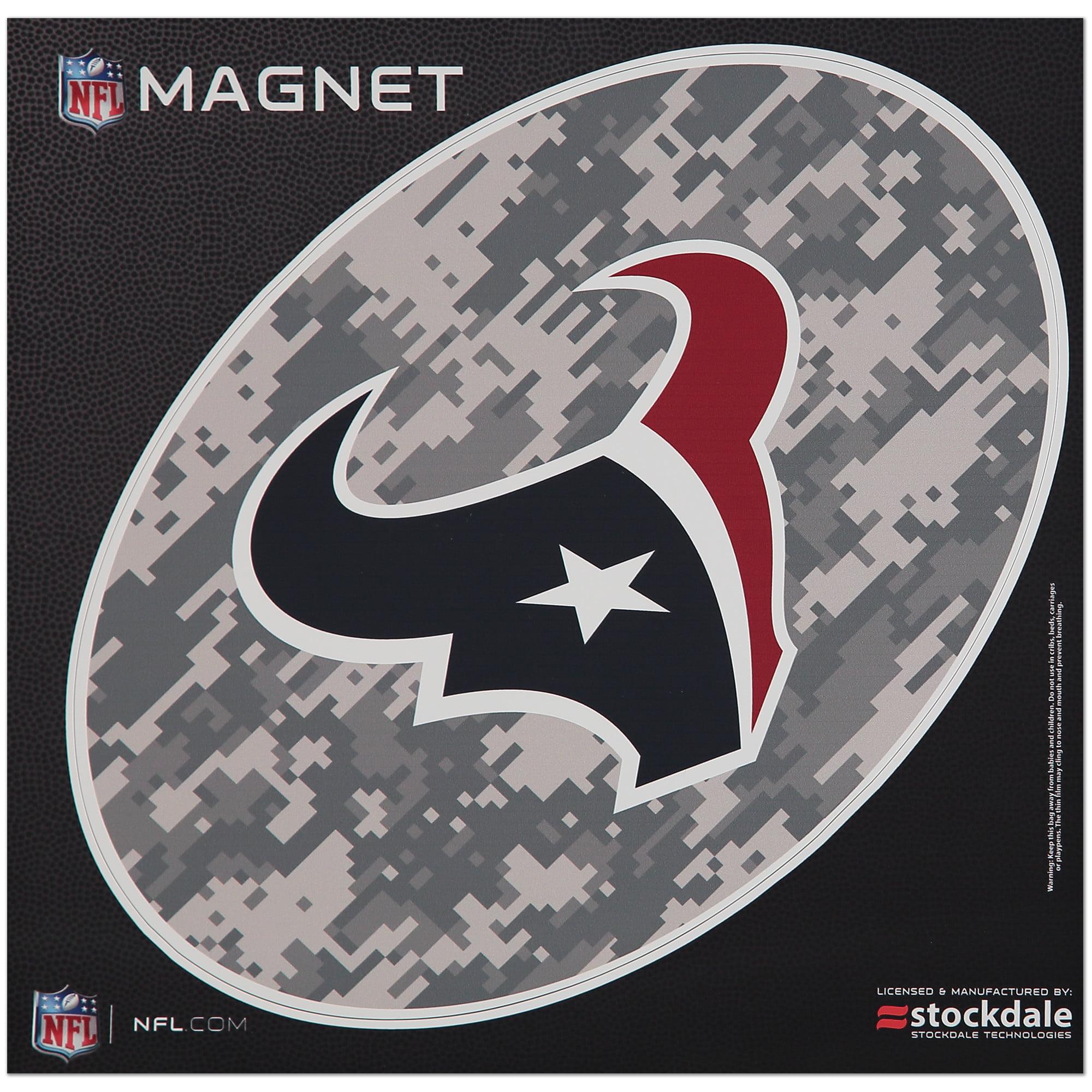 Houston Texans 12 x 12 Digi Camo Oval Magnet - No Size