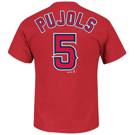 Albert Pujols Baseball - Albert Pujols Los Angeles Angels Majestic MLB Player Men T Shirt