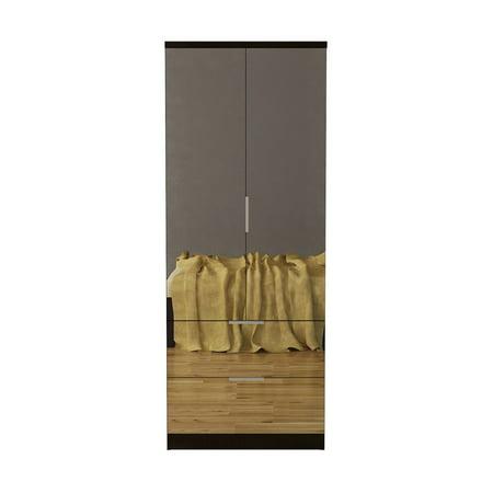 Gianna Mirrored Dresser Espresso - Home Source Industries