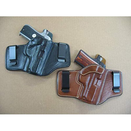 Azula 2 Clip IWB Leather in The Waistband Concealed Carry Holster for Smith & Wesson S&W Shield 9mm / 40 CCW TAN RH Smith And Wesson Clips
