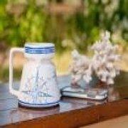 Galleyware™ Ceramic Compass Rose Non-skid 16 oz. Travel Mug