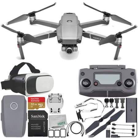 DJI Mavic 2 Zoom Drone Quadcopter with 24-48mm Optical Zoom Camera Virtual Reality Experience VR Starter Bundle