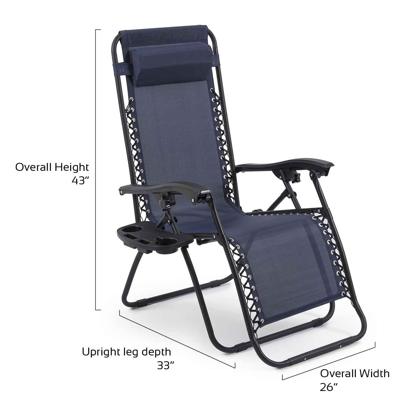 Patio Recliner Chairs Belleze 2 Pack Zero Gravity Chairs Patio Lounge Cup Holder