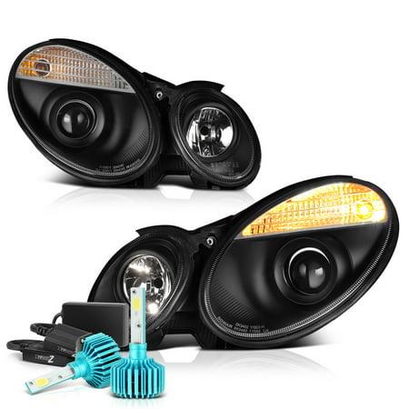 [For 2007-2009 Mercedes-Benz W211 E-Class Halogen Model] Projector  Headlight Headlamp Assembly, Driver & Passenger Side