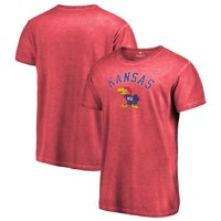 Kansas Jayhawks Fanatics Branded Vault Arch Over Logo Shadow Washed T-Shirt - Red
