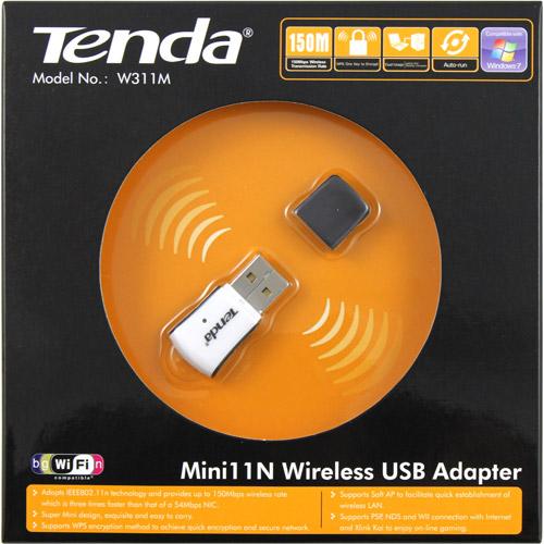 Tenda W311m Ieee 802.11n - Wi-fi Adapter For Desktop Computer/notebook - Usb - 150 Mbit/s - 2.40 Ghz Ism - External (173078)