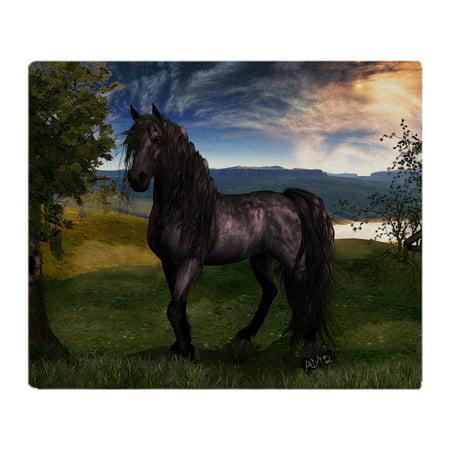 "CafePress - Freisian Horse - Soft Fleece Throw Blanket, 50""x60"" Stadium Blanket"