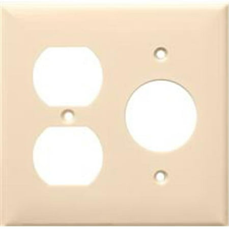 Morris Products 81688 Lexan Wall Plates 2 Gang 1Duplex 1Single Almond - image 1 of 1