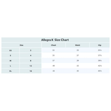 Allegra K Women's Split Irregular Hem Detail Straight Denim Skirts