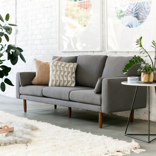 Capsule Home Mid Century Sofa with USB