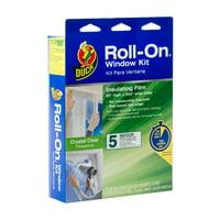 Duck Brand Roll-On Window Kit, Indoor, 5-Count