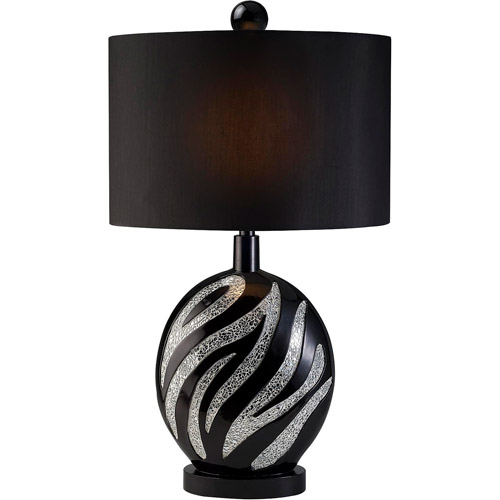 OK Lightning Zebra Table Lamp, 30.5""