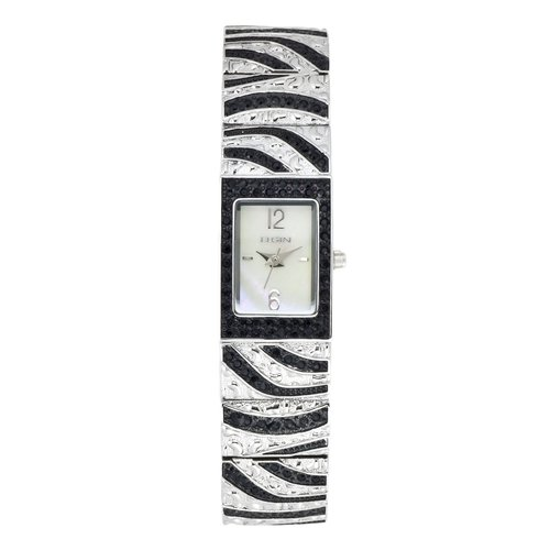 Elgin Women's Zebra Accented Crystal Watch