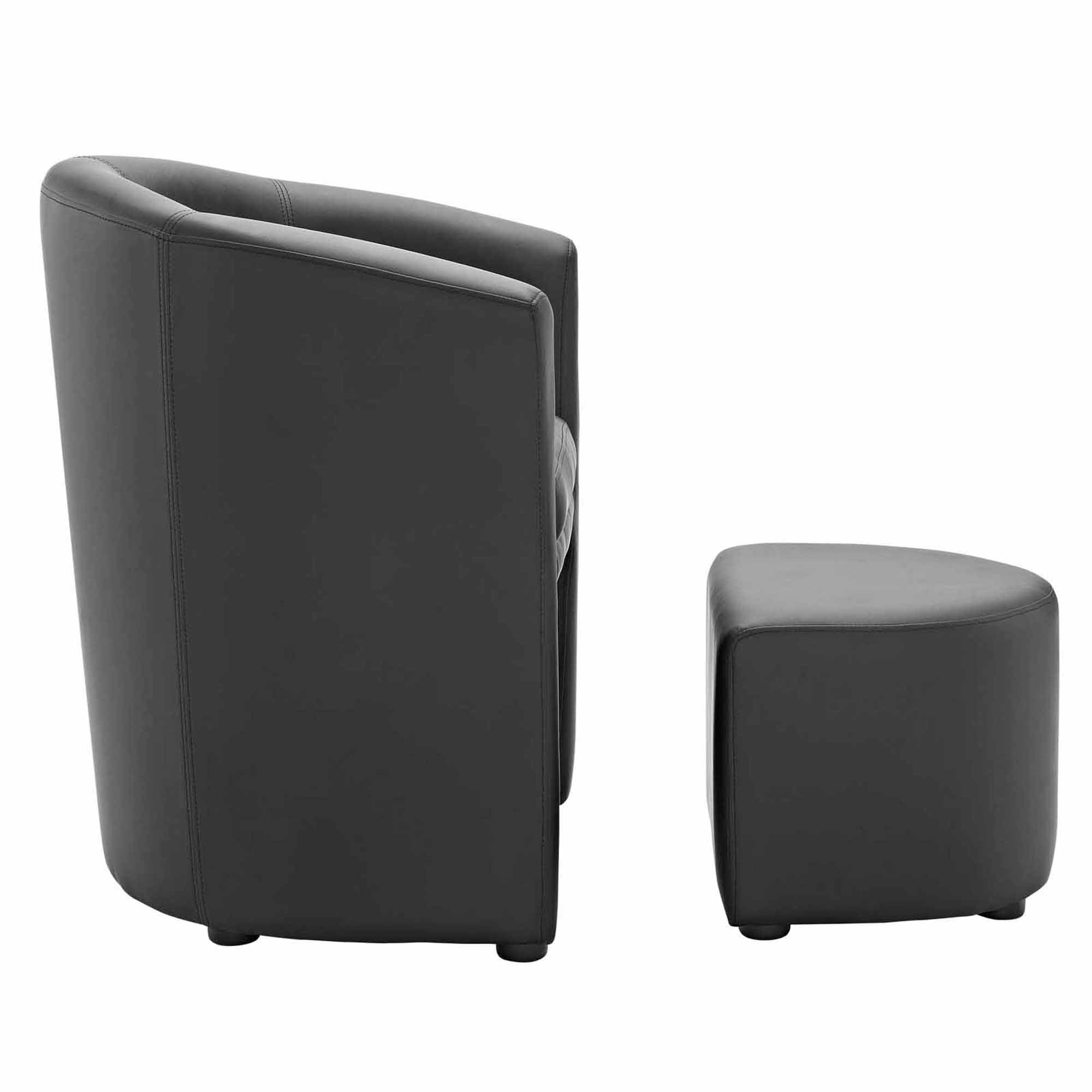 Modway Divulge Armchair and Ottoman Multiple Colors Walmart