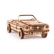 Wood Trick 3D Mechanical Model Kit Cabriolet Car Wooden Puzzle, Assembly Constructor Brain Teaser Gears Set DIY