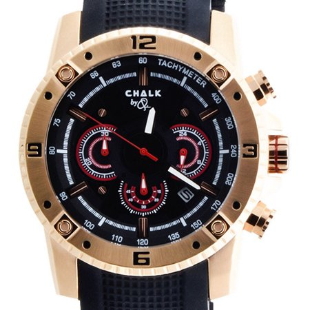 Chalk Quincy International Watch Ss Rose Gold Case Black Dial